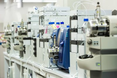 laboratory equipment for testing heavy metal concentration in cannabis